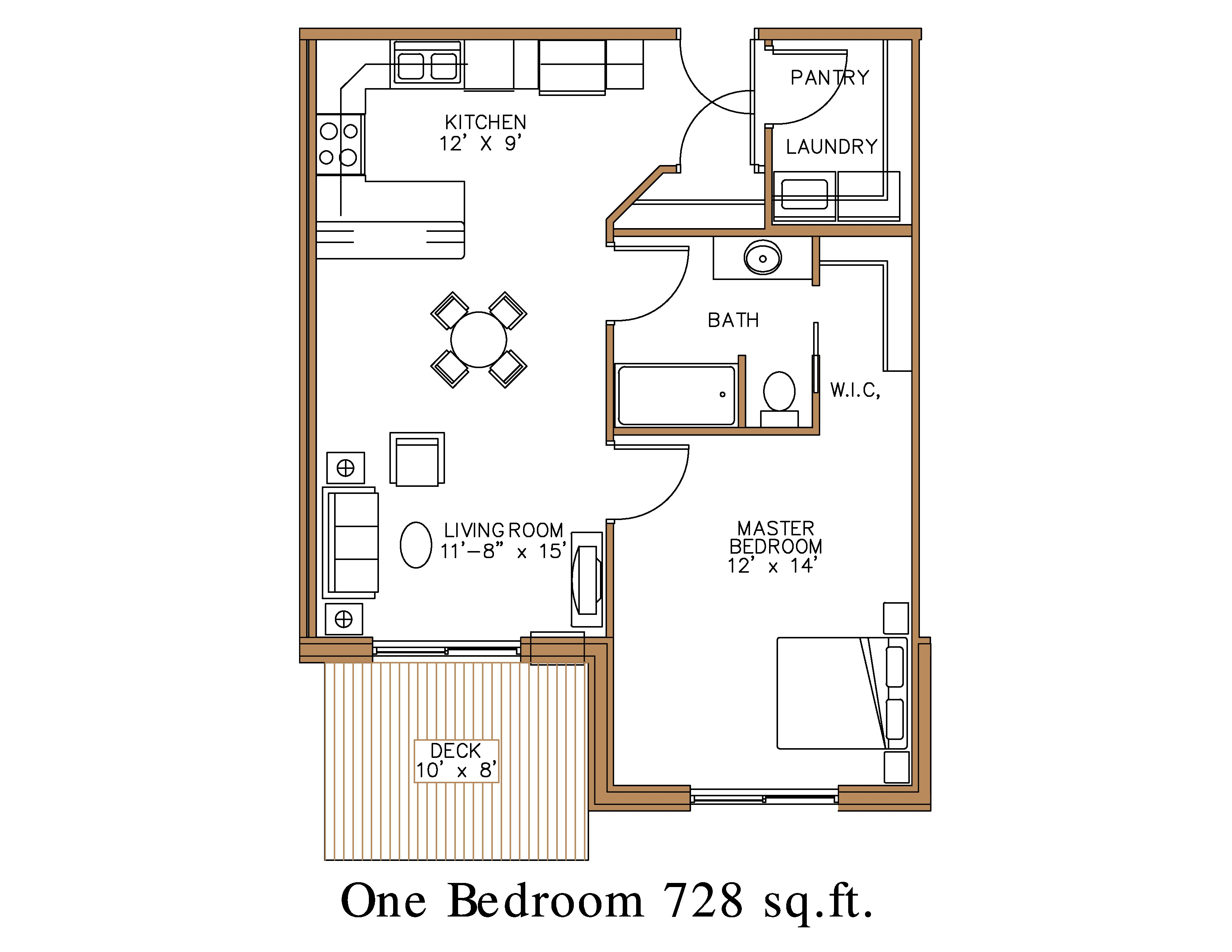 Floor plan at Northview Apartment Homes in Detroit Lakes | Great ...