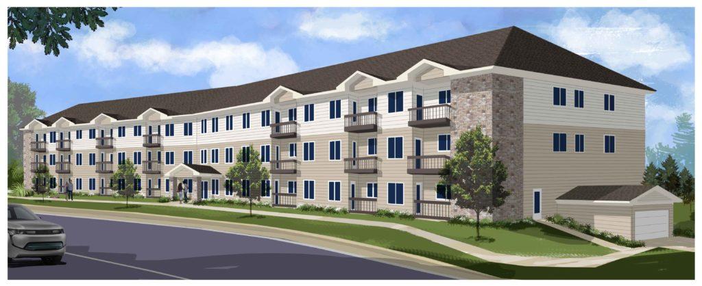 Apartment Building Artist Rendering