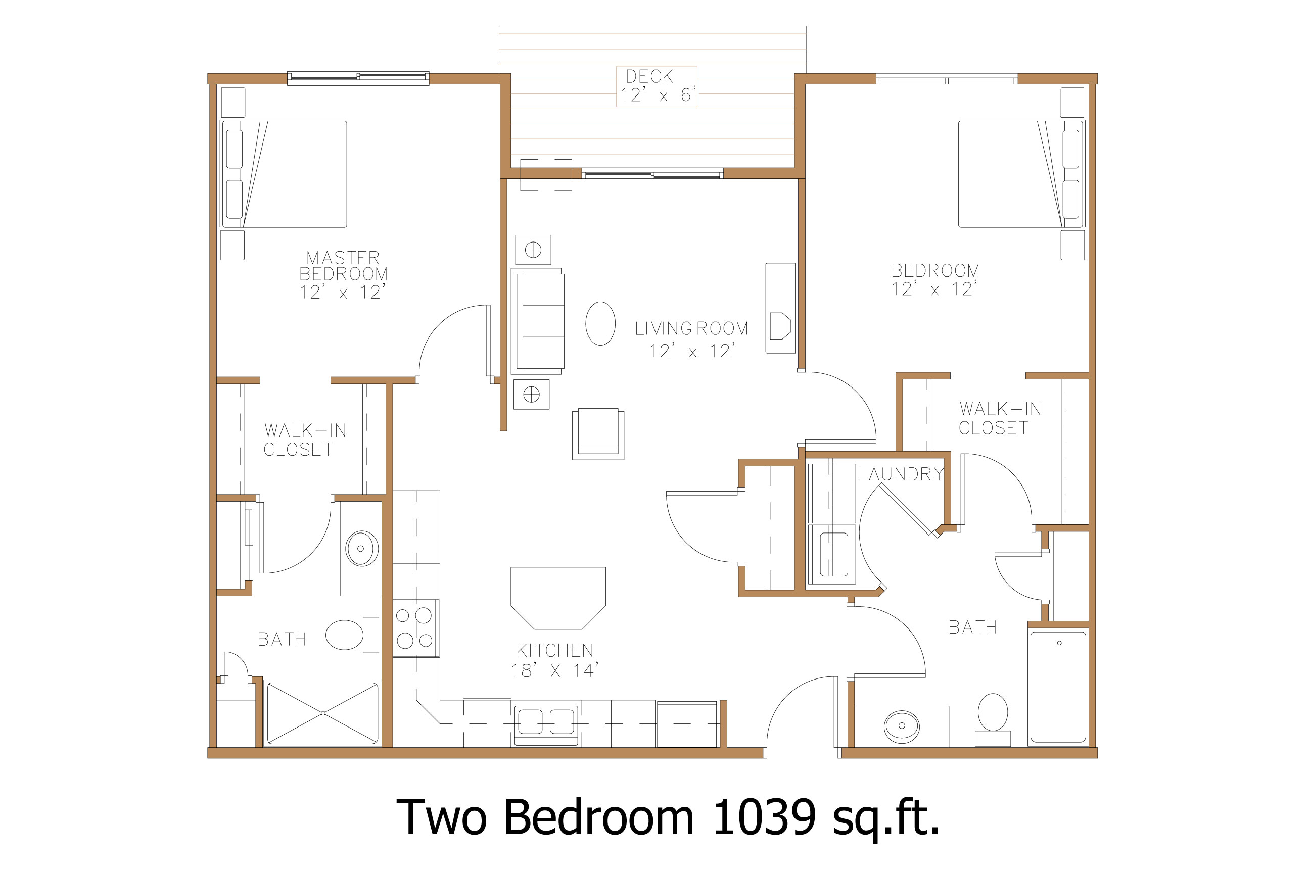 Hawley mn apartment floor plans great north properties llc for 2 bedroom 2 bath apartment floor plans